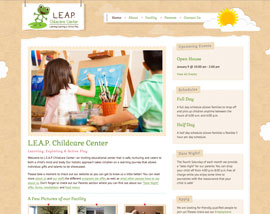 L.E.A.P Childcare Center website