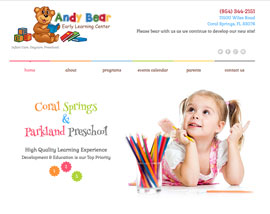Andy Bear Early Learning Center website
