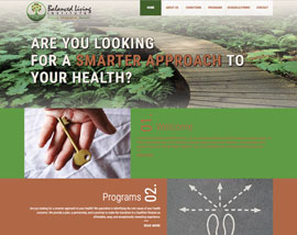 Balanced Living Institute website