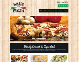 Sal's Pizza website