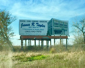 James R. Taylor & Sons Billboard